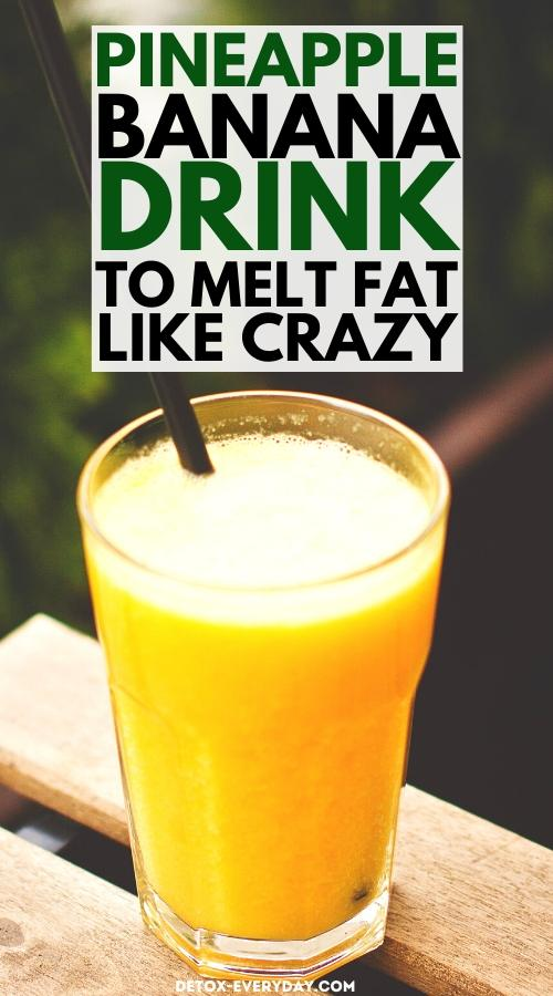 delicious-banana-pineapple-drink-for-weight-loss